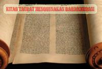 Kitab Taurat Menggunakan Bahasa Apa