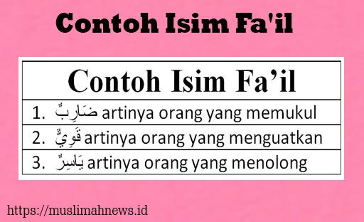 Contoh Isim Fa'il